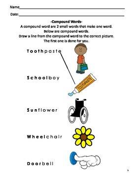 Compound Words for 2nd & 3rd Grade