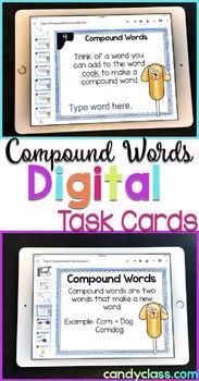 Compound Word Task Cards for Google™ Use- Challenger Set