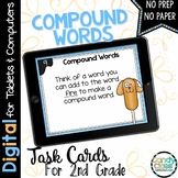 Compound Word Digital Task Cards - Challenge Set - Paperle