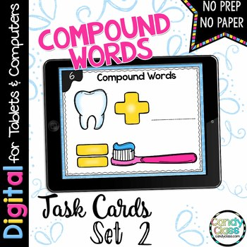 Compound Words Task Cards for Google™ Classroom Use- Set 2