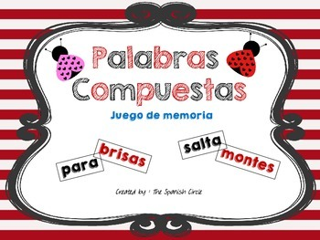 Compound Words game in Spanish