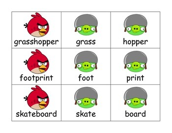 Compound Words with Angry Birds