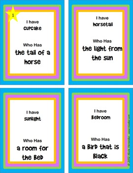 Compound Words Activity Loop Game