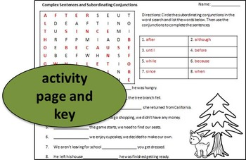 Compound and Complex Sentence Activities