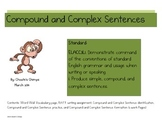 Compound and Complex Sentence Practice Packet