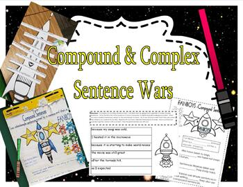 Compound and Complex Sentence Wars - Lessons, Anchor Charts, Centers, and More