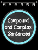 Compound and Complex Sentences Anchor Charts and Sentence