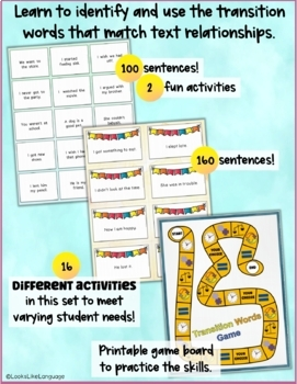 Combining Sentences: Activities for Text Structures- Compound/Complex Sentences