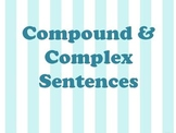 Compound and Complex Sentences PPT