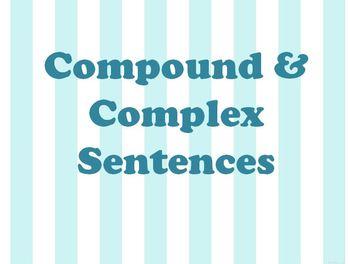 Compound and Complex Sentences PPT