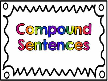 Compound and Complex Sentences Posters