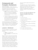 Compound and Complex Sentences Unit