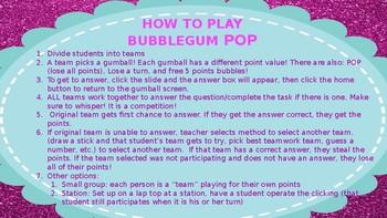 Compound and Simple Sentences Bubble Gum Pop Game