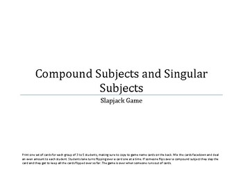 Compound Subjects game