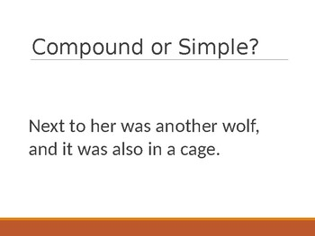 Compound or Simple Sentence PowerPoint Game