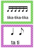 Compound time Kodaly rhythm posters