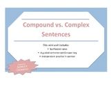 Compound vs. Complex Sentences