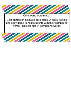 Compound word game