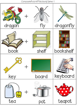Compound words (Flashcards + Worksheets) - 43 pages