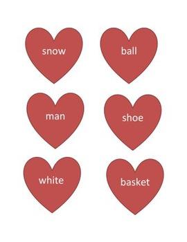 Valentine Day - Compound words - Heart style