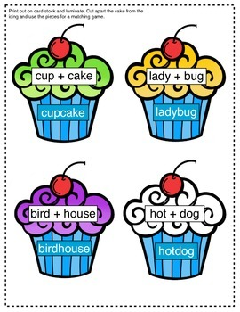 Compound words - Yummy Cupcakes