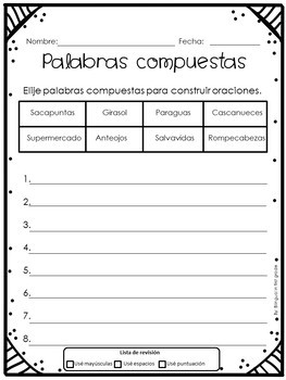 Compound words in Spanish - Palabras compuestas