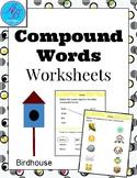 Compound words worksheets. 4 worksheets.