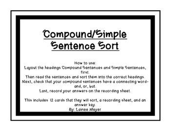 Compound/Simple Sentence Sort