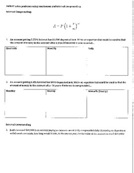 Compounding Interest (Monthly, Quarterly, Continuously) Common Core Algebra II