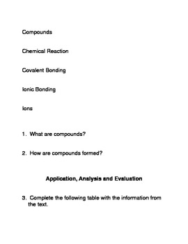 Compounds: Common Core Reading and Writing Activities