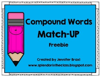 Compounds Words Matching Activity
