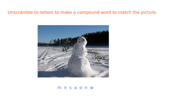 Compounds Words with Snow