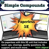 Compounds and Atoms 5E Lesson Paperless including warm ups