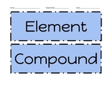 Compounds and Elements Sort!