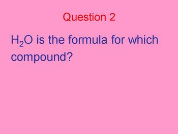 Compounds quick fire questions class quiz
