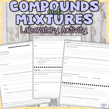 Mixtures And Solutions Teaching Resources Teachers Pay Teachers