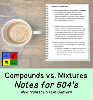 Compounds vs. Mixtures: Notes