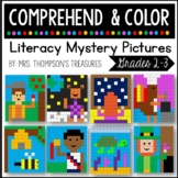 Reading Comprehension Passage & Questions + Coloring Mystery Pictures