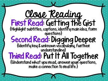 Close Reading Lap Book Project for Middle School