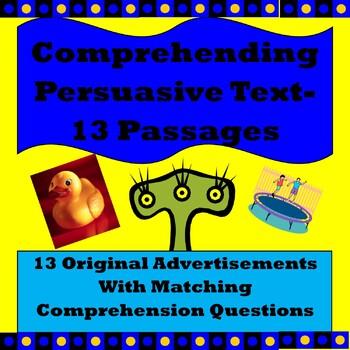 Comprehending Persuasive Text