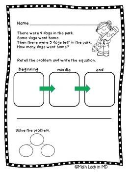 1st Grade: Comprehending Word Problems - Set 1