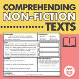 Non-Fiction Text Comprehension - Using Language Strategies Including Main Idea