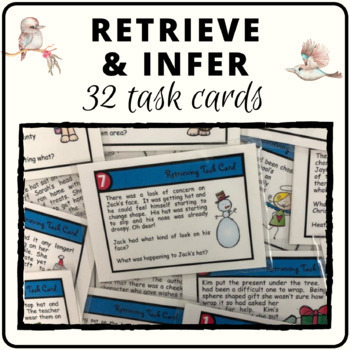 Retrieving and inferencing text task cards for comprehension