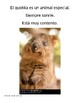 "Comprehensible Input Spanish Unit: ""Se busca un quokka"" for beginner level"