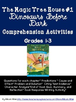 Comprehension Activities: Magic Tree House #1 Dinosaurs Be