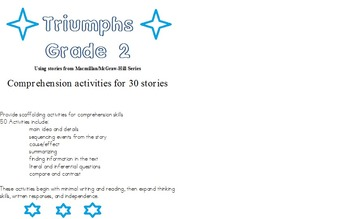 Comprehension Activities for Triumphs stories grade 2