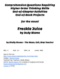 Comprehension Activities for the Novel Freckle Juice