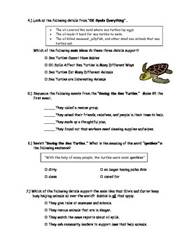 McGraw Hill Wonders - 3rd Grade - Kids to the Rescue Comprehension Activity