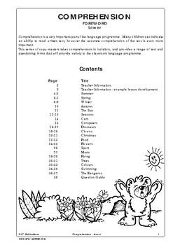 Comprehension – Ages 5-7