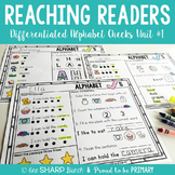 Guided Reading Comprehension Alphabet Checks
